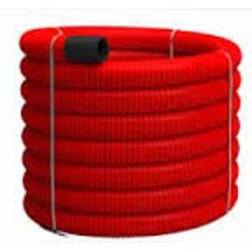 Picture of Tub Flexibil PVC pereti dubli rosu 63mm, Tehnoworld