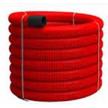 Picture of Tub Flexibil PVC pereti dubli rosu 90mm, Tehnoworld