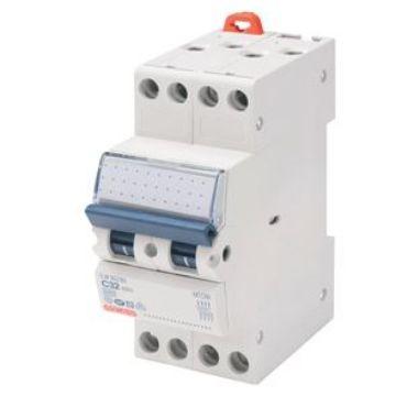Picture of Disjunctor compact MCB 4P, C25 4,5KA, 2 module, Gewiss, GW90089
