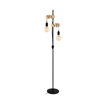 Picture of Lampadar Eglo Townshend Black-Brown 32919