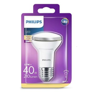 Picture of Bec LED reflector Philips 2.7W E27 R63 2700K 210LM PS03119