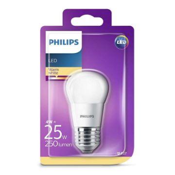 Poza cu Bec LED Philips 4W E27 P45 2700K 250LM PS03091