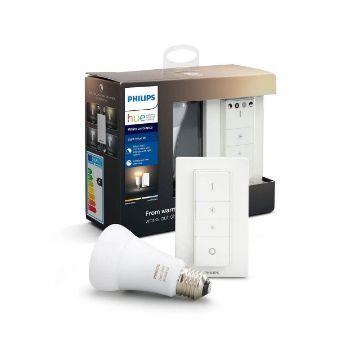Poza cu Starter Kit Philips Hue BT 8.5W A19 E27 White Ambiance PS03741