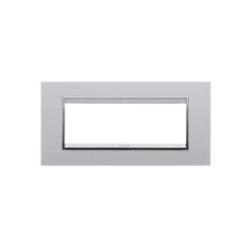 Poza cu Rama decorativa Gewiss Chorus Lux 6 module alba, GW16206TB
