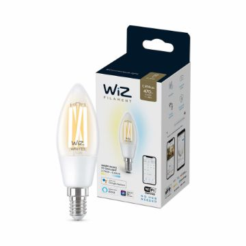 Picture of Bec LED WiZ smart WIFI E14 Filament Clear 470lm Tunable White