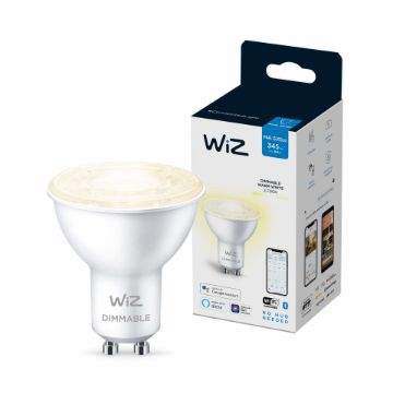 Picture of Bec LED WiZ smart WIFI Bluetooth GU10 345lm Dimmable Warm White