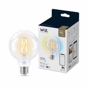 Picture of Bec LED WiZ smart WIFI E27 G95 Filament Clear 806lm Tunable White