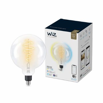 Picture of Bec LED WiZ smart WIFI E27 G200 Filament Clear 470lm Tunable White