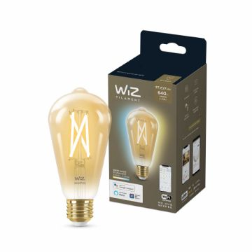 Picture of Bec LED WiZ smart WIFI E27 ST64 Filament Amber 640lm Tunable White