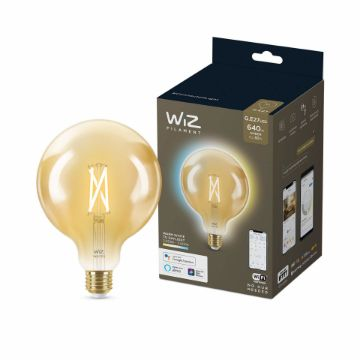Picture of Bec LED WiZ smart WIFI E27 G125 Filament Amber 640lm Tunable White