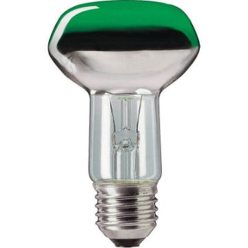Picture of Bec incandescent Philips Reflector 40W E27 NR63 verde