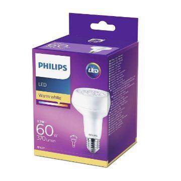 Poza cu Bec LED Philips 3.7W E27 R80 lumina calda 370LM PS03285