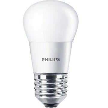 Poza cu Bec LED Philips 5.5W E27 P45 470lm lumina calda PS02958