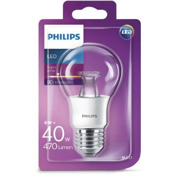 Poza cu Bec LED Philips 6W E27 A60 470LM lumina calda PS03270