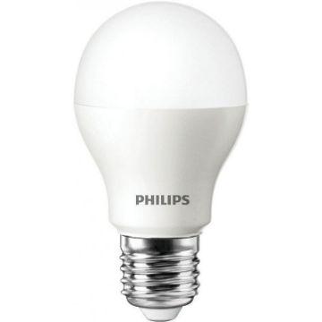 Poza cu Bec LED Philips standard 5.5W A60 E27 lumina calda PS02584