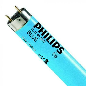 Picture of Tub fluorescent Philips TL-D Blue tubular, 36W, T8, G13, lumina albastra, 960LM