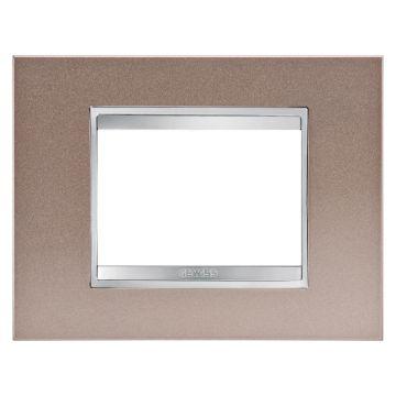 Picture of Rama decorativa Gewiss Chorus Lux 3 module bronz perlat, GW16203MP