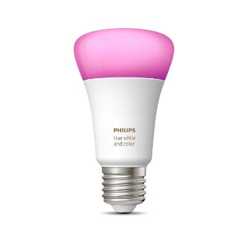 Poza cu Bec LED Philips Hue BT 9W E27 A19 White and Color Ambiance PS03737