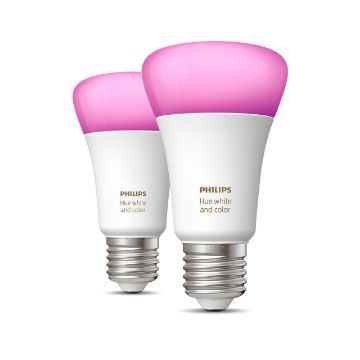 Poza cu Set 2 becuri Philips Hue BT 10W E27 White and Color Ambiance PS03745