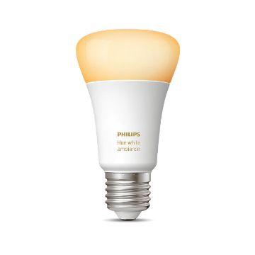 Poza cu Bec LED Philips Hue BT 8.5W E27 White Ambiance PS03736