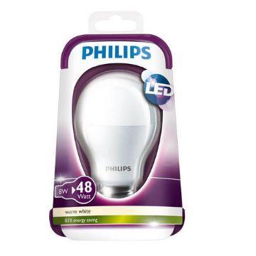 Poza cu Bec LED Philips 8W E27 A60 lumina calda PS02583