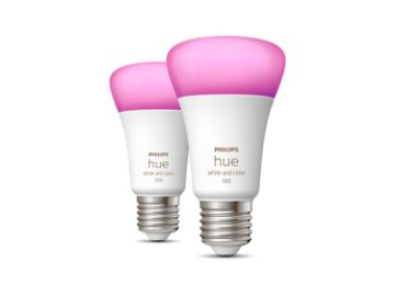 Poza cu Set becuri LED Philips Hue BT 9W E27 White and Color Ambiance