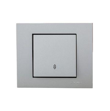 Picture of Intrerupator Cap Scara Ovivo ST Grano Metalic argintiu OV00106