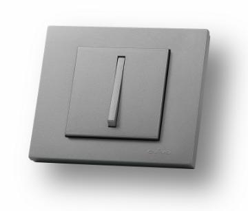 Picture of Intrerupator Cap Scara Ovivo slim ST Grano Metalic argintiu OV00121