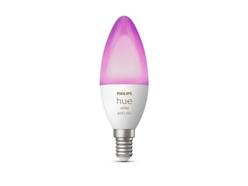 Picture of Bec LED Philips Hue BT 5.3W E14 B39 White and Color Ambiance PS04297